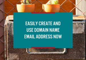 easily create and use domain name email address